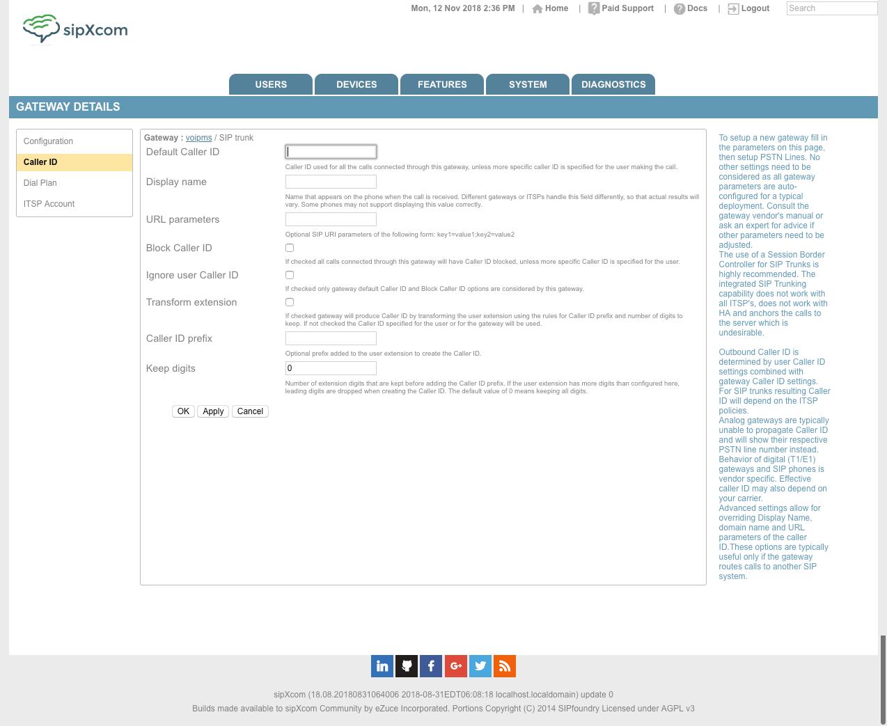 SIP Trunking - sipXcom - Documentation Wiki