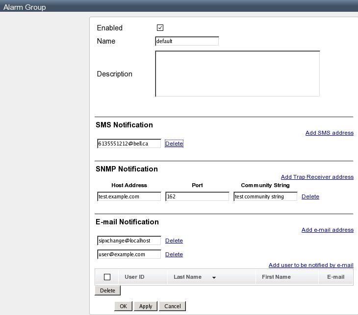 Configuring Alarms - sipXcom - Documentation Wiki