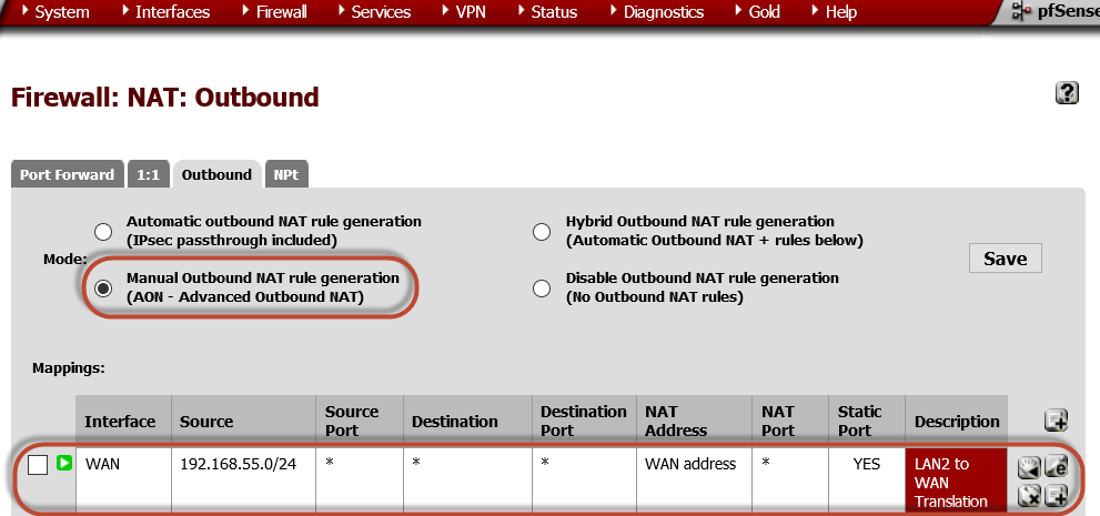 Pfsense Firewall Basic Setup with Sipxcom - sipXcom - Documentation Wiki