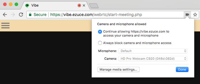 Vibe WebRTC Client Information - eZuce - Global Site